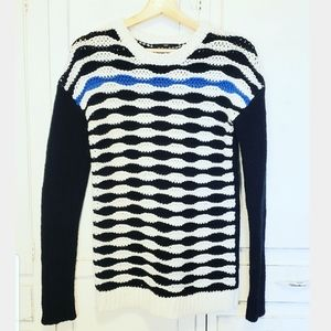 Tibi wool mohair retro wave pull over sweater
